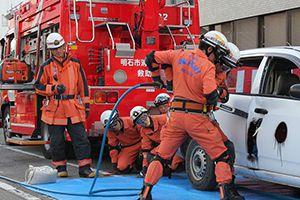 救助資機材展示