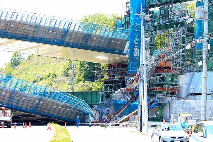 新名神高速道路橋桁落下事故2