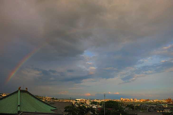 今日は大きな虹が出ました!(はりる)2