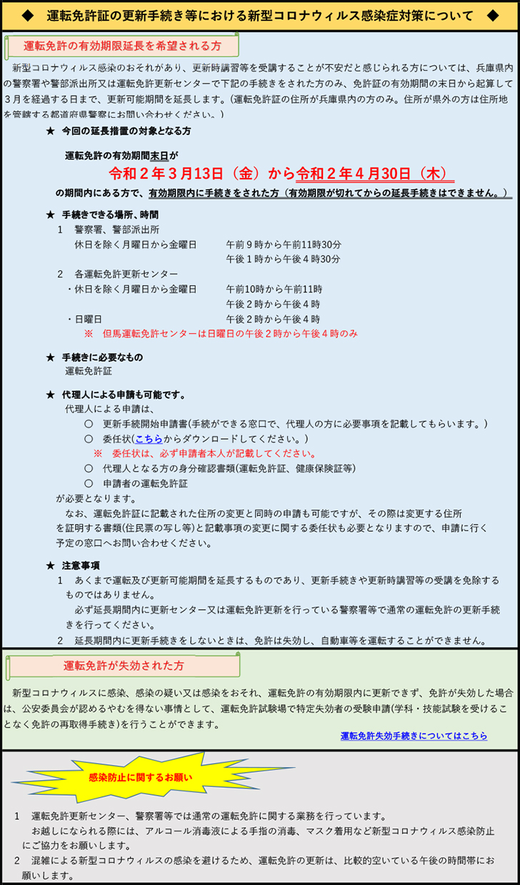 兵庫県 免許更新