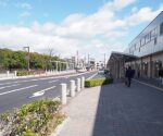 明石駅周辺道路の停車スペースが整備されてる!